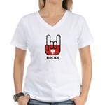 Poland Rocks Women's V-Neck T-Shirt