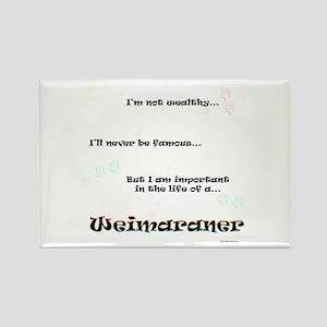 Weimaraner Life Rectangle Magnet