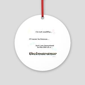 Weimaraner Life Ornament (Round)