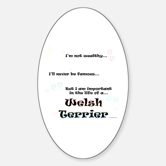 Welsh Terrier Life Oval Decal