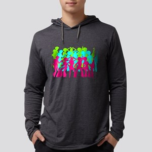 Neon Triple Disco Dance Party Long Sleeve T-Shirt