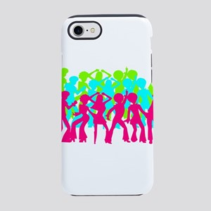 Neon Triple Disco Dance Part iPhone 8/7 Tough Case