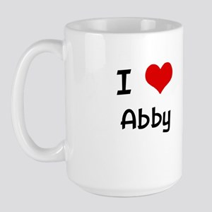 I LOVE ABBY Large Mug