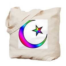 Rainbow Islamic Symbol Tote Bag