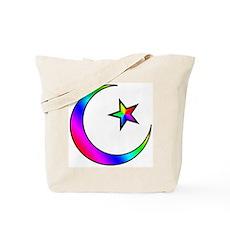 Rainbow Islamic Symbol Tote Bag