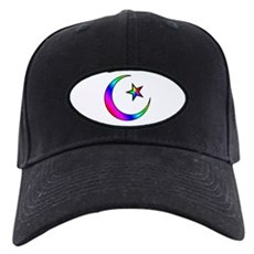 Rainbow Islamic Symbol Black Cap