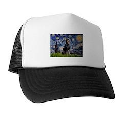 Starry Night Doberman Trucker Hat
