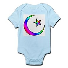 Rainbow Islamic Symbol Infant Creeper