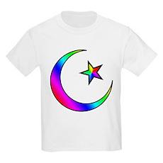 Rainbow Islamic Symbol Kids T-Shirt