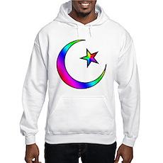 Rainbow Islamic Symbol Hooded Sweatshirt