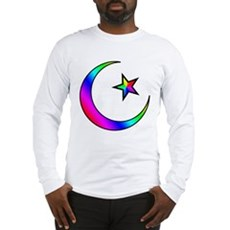 Rainbow Islamic Symbol Long Sleeve T-Shirt