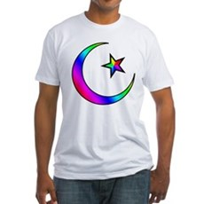 Rainbow Islamic Symbol Fitted T-Shirt