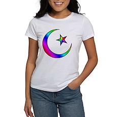 Rainbow Islamic Symbol Women's T-Shirt