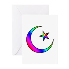 Rainbow Islamic Symbol Greeting Cards (Package of