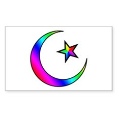 Rainbow Islamic Symbol Rectangle Sticker