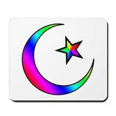 Rainbow Islamic Symbol Mousepad