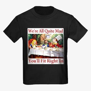 WE'RE ALL QUITE MAD Kids Dark T-Shirt