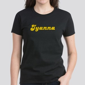 Retro Iyanna (Gold) Women's Dark T-Shirt