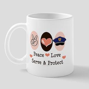 Peace Love Police Officer Mug