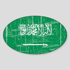 Saudi Arabia Oval Sticker