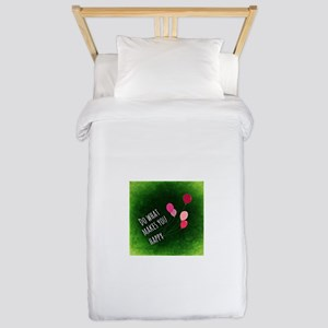 Do What Makes You Happy Twin Duvet Cover