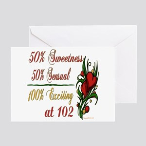 Exciting 102nd Greeting Card
