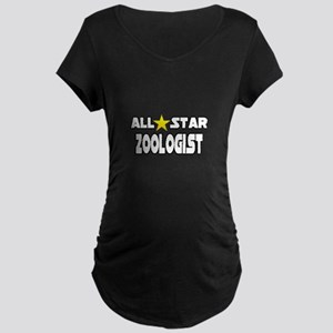"""""""All Star Zoologist"""" Maternity Dark T-Shirt"""