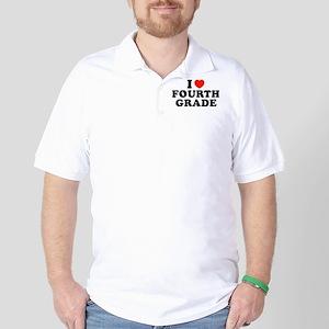 I Heart/Love Fourth Grade Golf Shirt