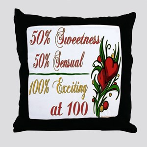 Exciting 100th Throw Pillow
