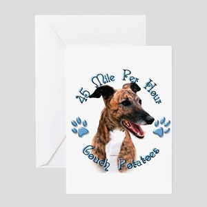 Brindle Couch Greeting Card