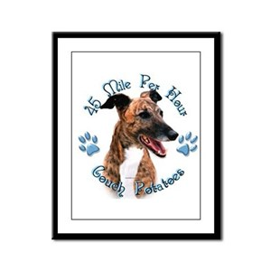 Brindle Couch Framed Panel Print