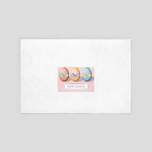 Ribbon & Bow Happy Easter Eggs 4' x 6' Rug