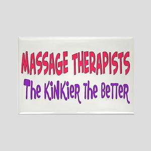 Massage therapists kinkier Rectangle Magnet