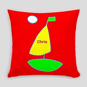 Sailboat Red Green Sailing 4Chris Everyday Pillow