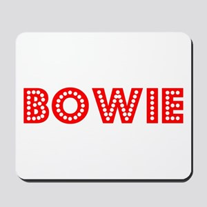 Retro Bowie (Red) Mousepad