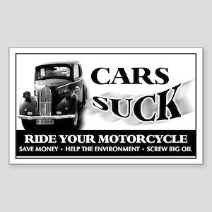Cars Suck - Vintage Car Rectangle Sticker