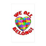 We All Belong! Rectangle Sticker 50 pk)