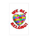 We All Belong! Rectangle Sticker