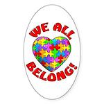 We All Belong! Oval Sticker (10 pk)