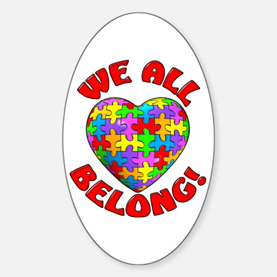 We All Belong! Oval Decal