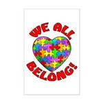 We All Belong! Mini Poster Print