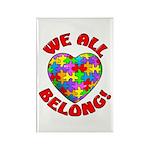 We All Belong! Rectangle Magnet (10 pack)