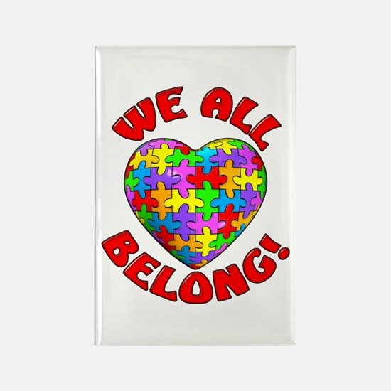 We All Belong! Rectangle Magnet