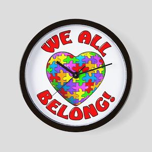 We All Belong! Wall Clock