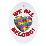 We All Belong! Oval Ornament