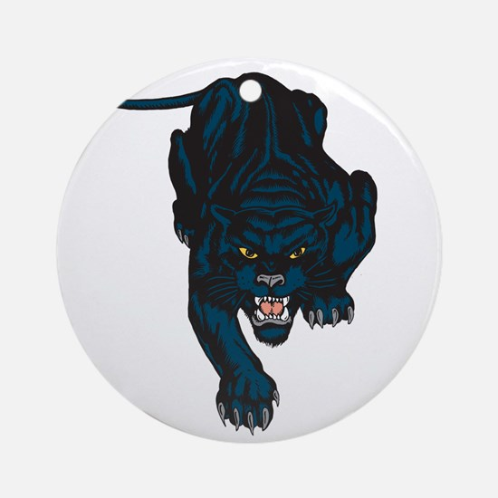 Sleek Panther Ornament (Round)