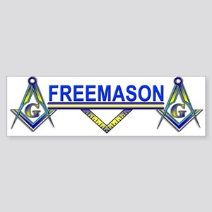 "Masonic ""On the Square"" Freemason Bumper Sticker"