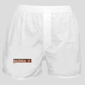 Macdougal Street in NY Boxer Shorts