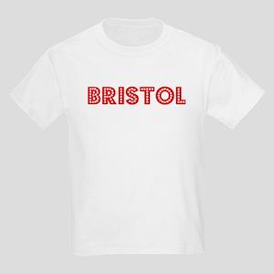 Retro Bristol (Red) Kids Light T-Shirt