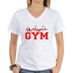 Gym Women's V-Neck T-Shirt